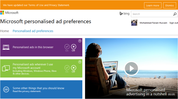 Ms-personal-ad-preferences